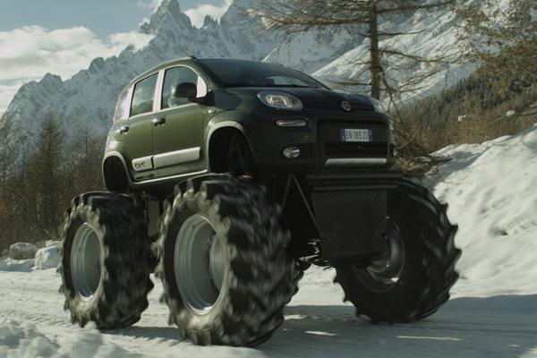 Als monstertruck fiat panda 4x4 autowereld - Monster verf ...