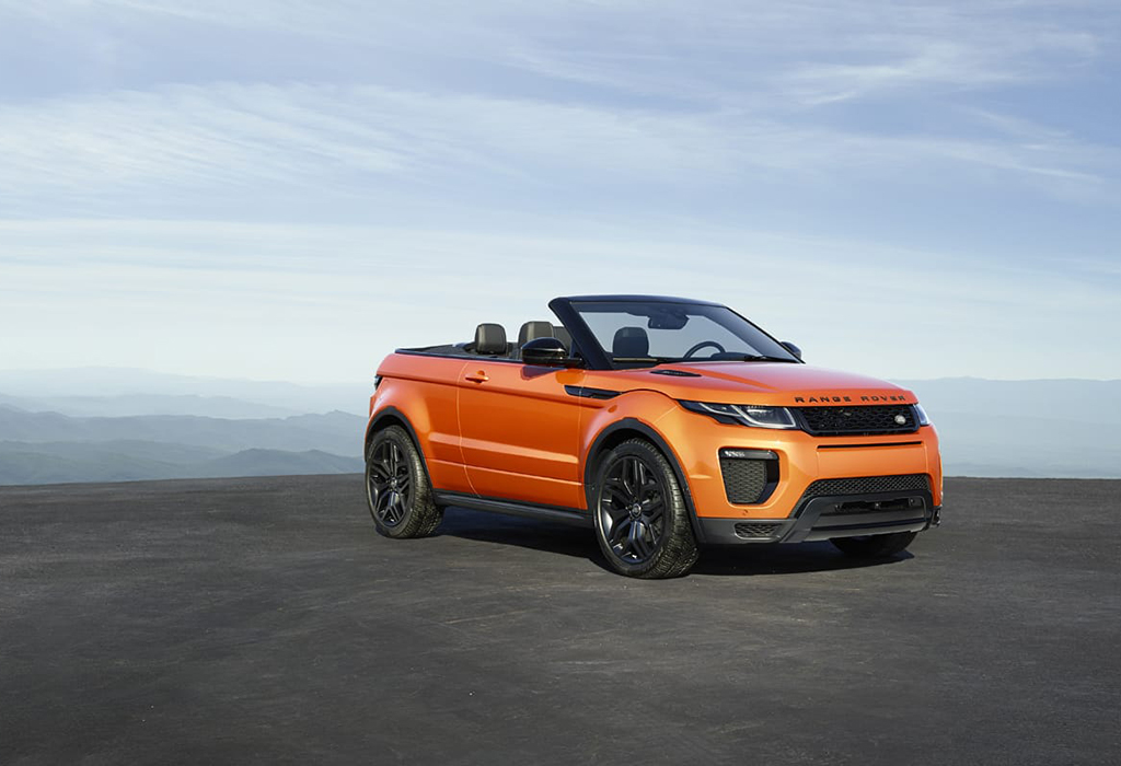 autosalon brussel range rover evoque convertible