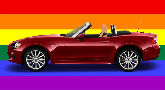 gay car of the year 2017 fiat 124 spider