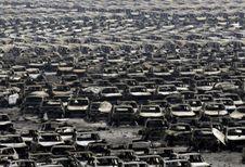 Catastrophe de Tianjin : 10.000 voitures carbonisées
