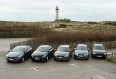 Audi A3 1.6 TDI Ultra, BMW 116d EfficientDynamics Edition, Lexus CT 200h, Mercedes A 180 CDI BlueEfficiency Edition en Volvo V40 D2 : Ambitieuze spaarders