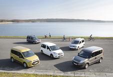 Citroën Berlingo 1.6 HDi 90, Ford Transit Tourneo Connect 1.6 TDCi 95, Opel Combo 1.6 CDTI 90, Renault Kangoo 1.5 dCi 90 et Volkswagen Caddy 1.6 TDI 102 : Les bons à tout faire