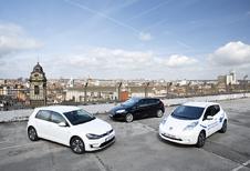 Ford Focus Electric, Nissan Leaf et Volkswagen e-Golf