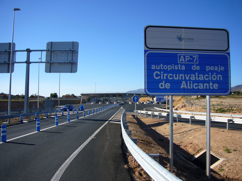 Approche d'un péage à Alicante