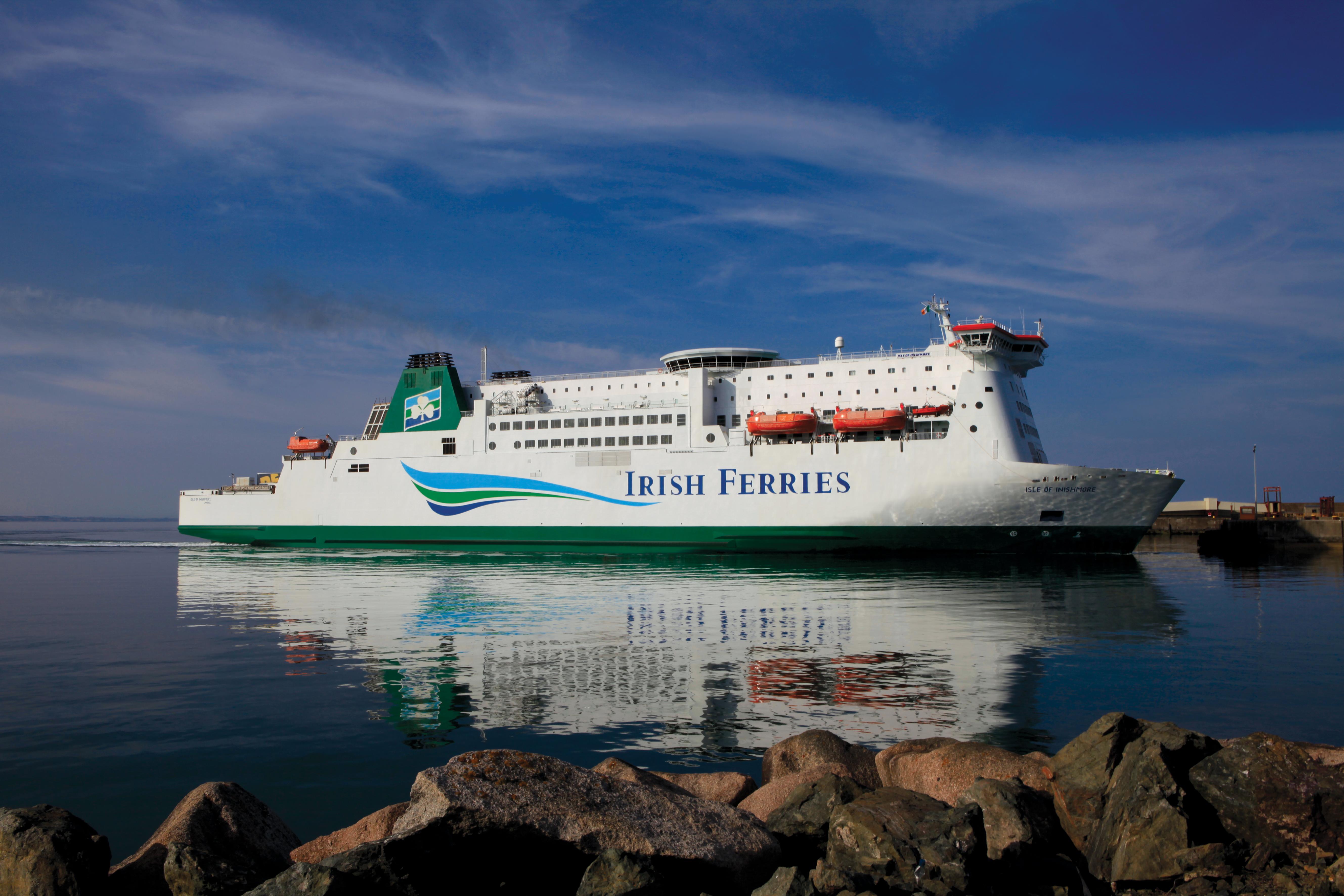 Un des nombreux ferries desservant l'Irlande.