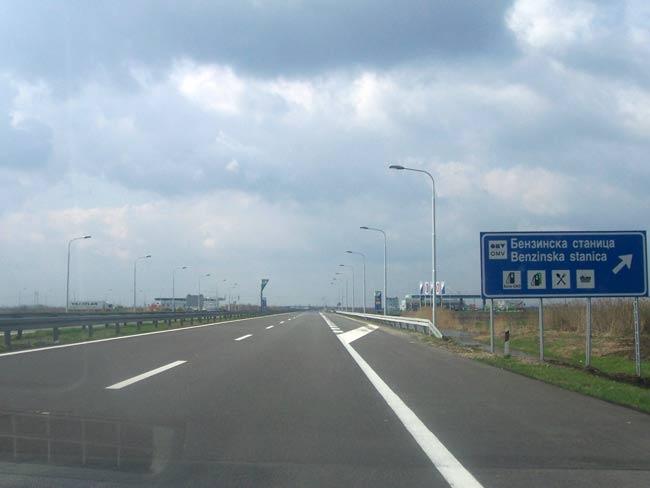 Tronçon de la E70 en Serbie