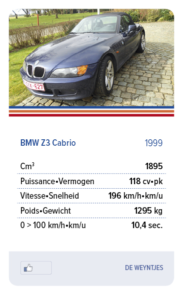 BMW Z3 Cabrio 1999 - DE WEYNTJES