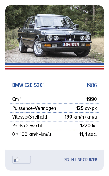 BMW E28 520i 1986 - SIX IN LINE CRUIZER