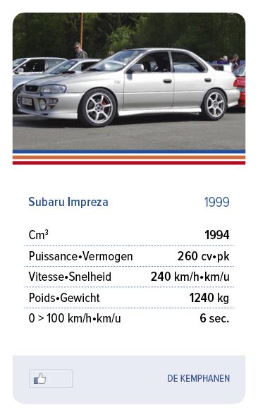 Subaru Impreza 1999 - DE KEMPHANEN