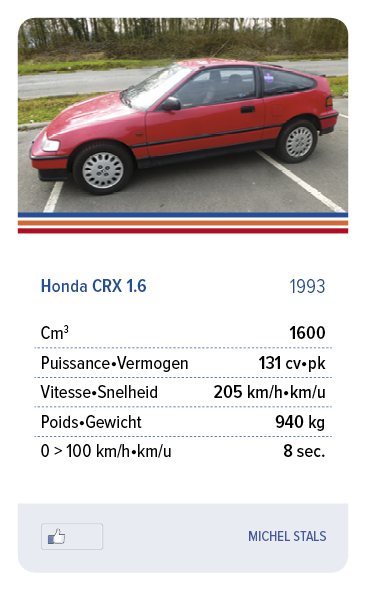 Honda CRX 1.6 1993 - HARDY JEAN MICHEL