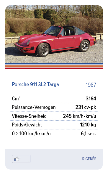Porsche 911 3L2 Targa 1987 - RIGENÉE