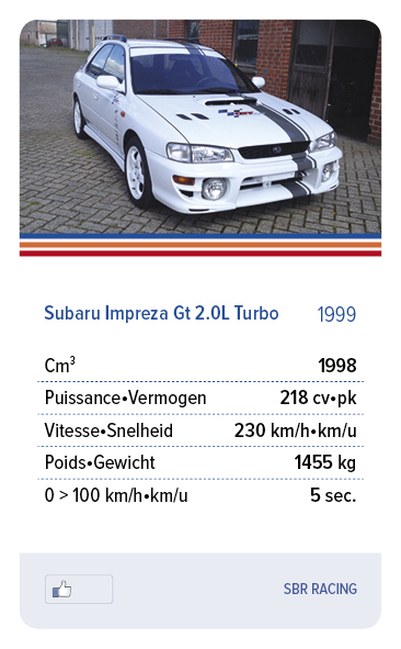 Subaru Impreza Gt 2.0L Turbo 1999 - SBR RACING