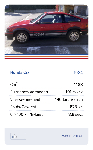Honda Crx 1984 - MAX LE ROUGE