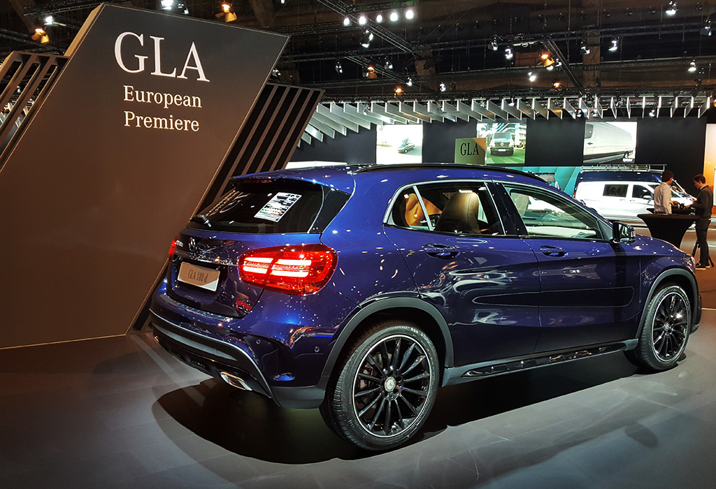 Mercedes GLA facelift 2017 autosalon brussel