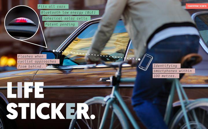 Alerte cycliste poser sur le r troviseur moniteur for Colle retroviseur exterieur