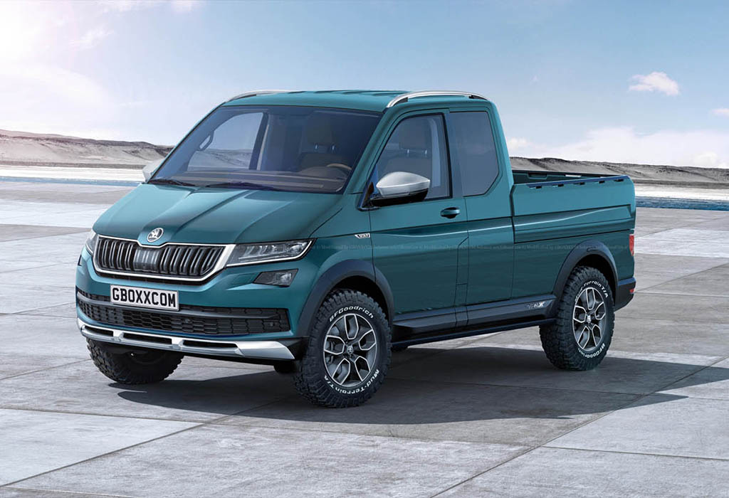 Mash-ups: BMW i-Van, Bugatti Super-SUV, Porsche-bus, Skoda pick-up - AutoWereld