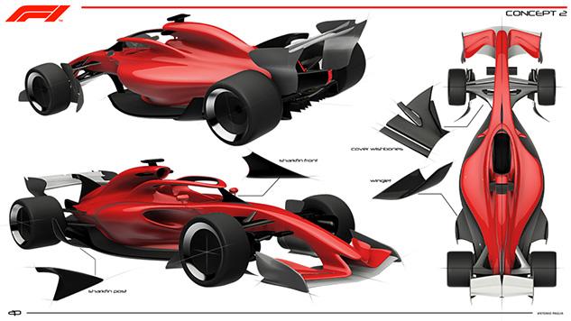 F1 2021 Design Concept Study