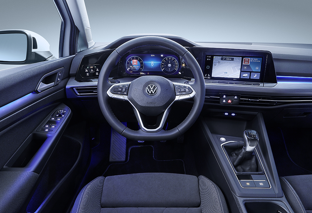 volkswagen golf 8 krijgt revolutionair dashboard autowereld. Black Bedroom Furniture Sets. Home Design Ideas