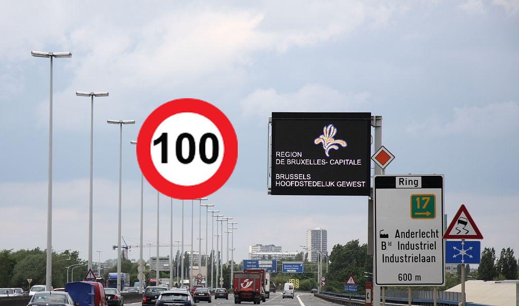 Maximumsnelheid Brusselse Ring van 120 naar 100 km/u (2020)