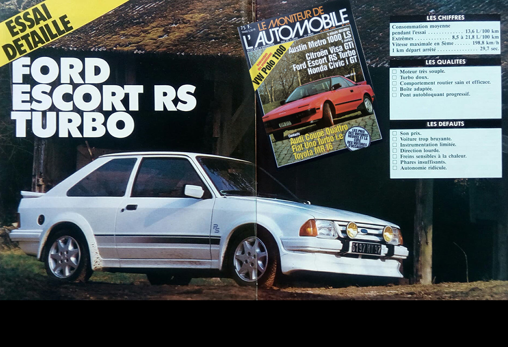 Ford Focus RS Turbo / Moniteur Automobile 1985