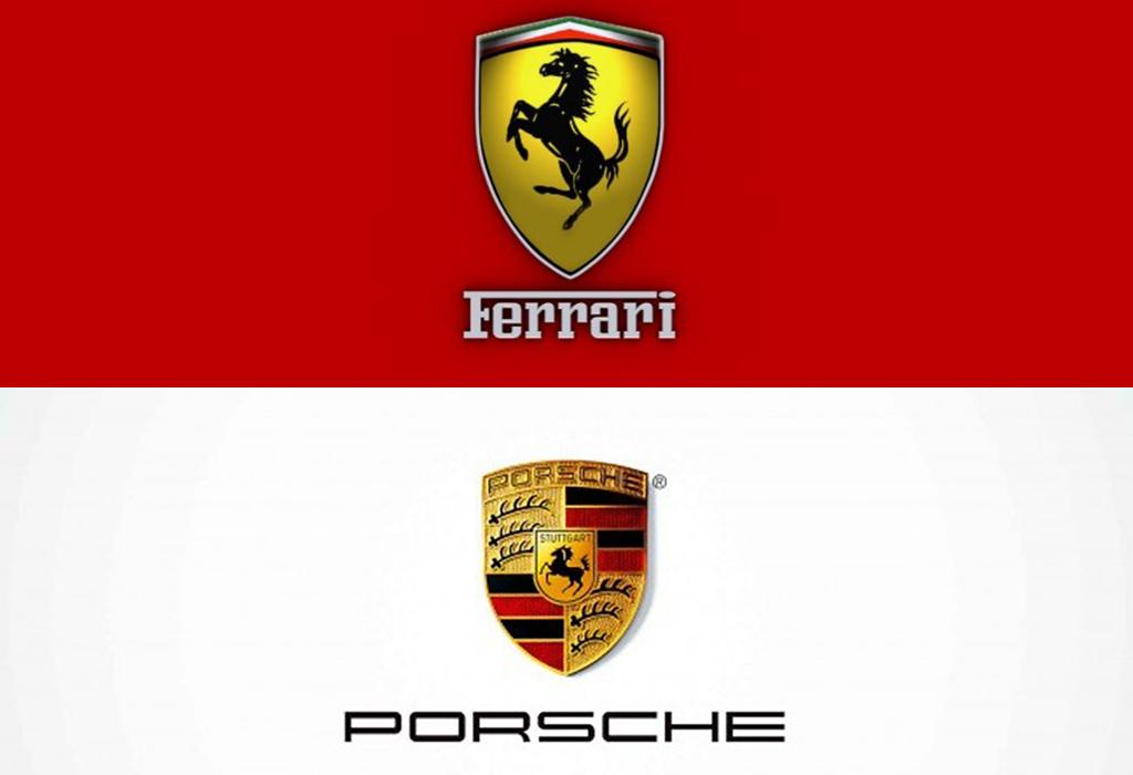 Het Steigerende Paard van Ferrari is ook dat van Porsche