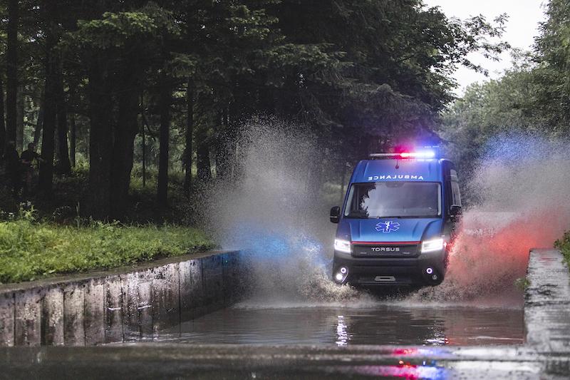 Torsus Terrastorm als ambulance