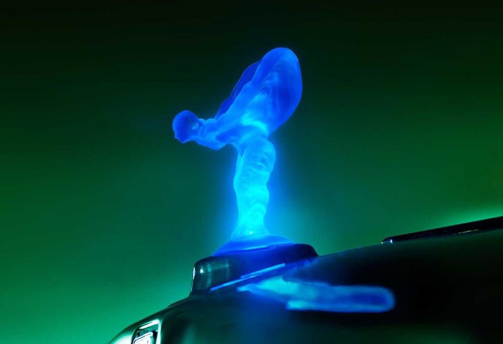 Europa bant verlichte logo van Rolls-Royce