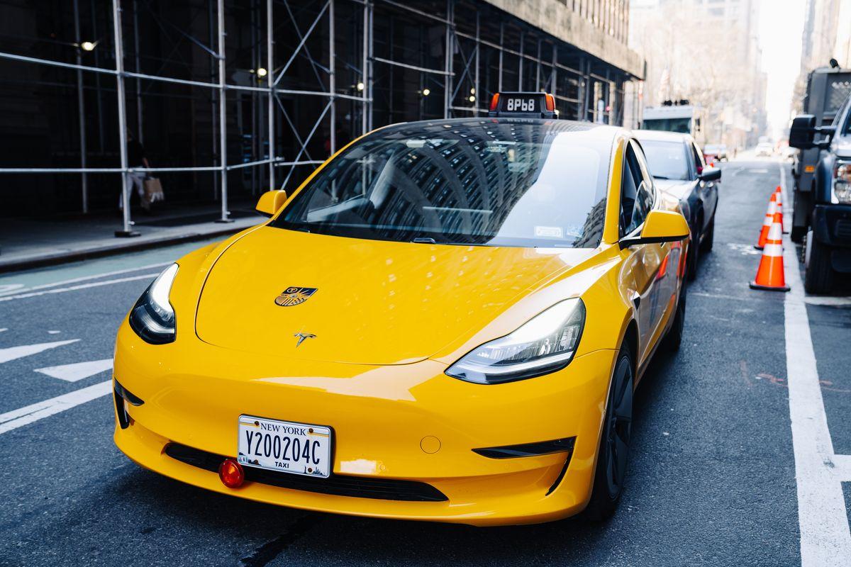 Tesla New York Taxi