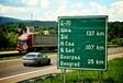 Panneau de signalisaiton sur la E75 en Serbie