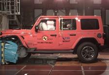 De jongste Euro NCAP-crashtestresultaten geven de nieuwe Jeep Wrangler slechts enkele ster. De Fiat Panda doet nog slechter.