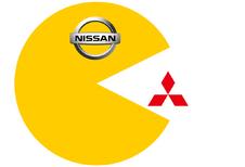 Nissan eet Mitsubishi op