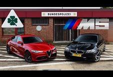 ONGEWOON – Duel tussen Alfa Romeo Giulia QV en BMW M5
