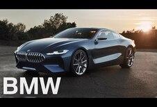 BMW Série 8 en mouvement