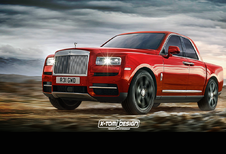 Rolls-Royce Cullinan werkt als pick-up