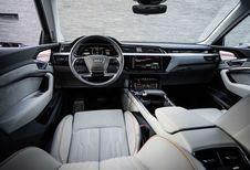 Audi e-tron : la planche de bord et les écrans de rétrovision