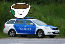 Politie van Estland verkiest koffiepauze boven snelheidsboete