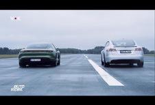 Porsche Taycan vs. Tesla S P100D: welke is de snelste?