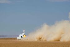 Wat als: dragrace tussen Bloodhound LSR, F1-auto en Bugatti Chiron