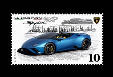 Lamborghini Huracán is er nu ook als... digitale postzegel!