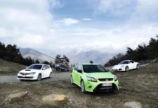 Ford Focus RS, Mitsubishi Lancer Evolution, Porsche Cayman S & Subaru Impreza WRX STi : Temps Scratch