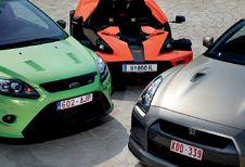 Ford Focus RS, KTM X-Bow & Nissan GT-R : Brelan d'as