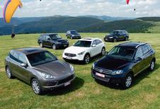 BMW X5 3.0d, Infiniti FX 30d, Mercedes ML 350 Bluetec, Porsche Cayenne Diesel, Range Rover Sport TDV6 & Volkswagen Touareg 3.0 TDI : SUV façon nouvelle cuisine