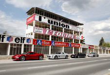 Corvette Z06, Ferrari 458 Italia, Mercedes SLS AMG en Porsche 911 Turbo S