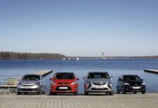 Ford Grand C-Max 2.0 TDCi 136, Mazda 5 1.6 CDVi 115, Opel Zafira Tourer 2.0 CDTI 130 et Renault Grand Scénic 1.6 dCi 130 : La lutte des places