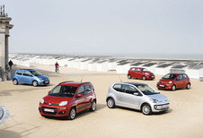 Fiat Panda TwinAir 85, Kia Picanto 1.0, Renault Twingo 1.2, Toyota Aygo 1.0 VVT-i en Volkswagen Up 1.0 60 : Springtij