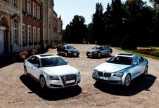 Audi A8 Hybrid, BMW ActiveHybrid 7, Infiniti M35h en Mercedes S 400 Hybrid : Voor groene CEO's