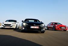 Hyundai Genesis Coupé, Peugeot RCZ et Toyota GT86 : Happy hours