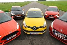 Citroën DS3 Racing, Ford Fiesta ST,Peugeot 208 GTi, Renault Clio R.S. enSeat Ibiza SC Cupra : Springlevend