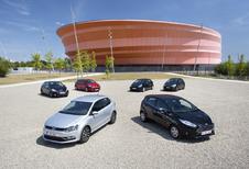Citroën C3 1.6 e-HDi 92, Ford Fiesta 1.6 TDCi 95 ECOnetic, Kia Rio 1.4 CRDi 90, Peugeot 208 e-HDi 92, Renault Clio 1.5 dCi 90 en Volkswagen Polo 1.4 CRTDI 90 BMT : Kleine werkmieren
