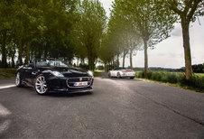 JAGUAR F-TYPE V6 S ROADSTER // PORSCHE 911 CARRERA 4S CABRIOLET : Zinvol geweld